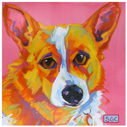 Corgi Color Dog Sally the Pembroke Welsh Canvas Print