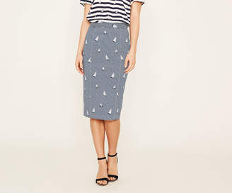 Oasis BOAT STRIPE PENCIL SKIRT