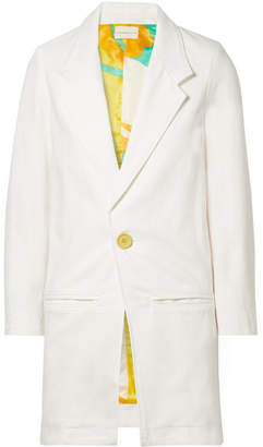 Omer Denim Blazer - White