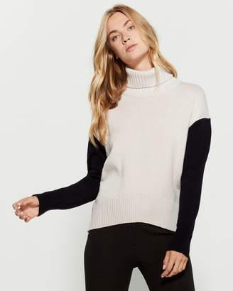 Peserico Color Block Turtleneck Sweater