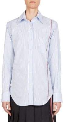 Thom Browne Oversize Pinstripe Button-Down Shirt