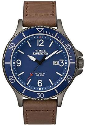 Timex Men's TW4B10700 Expedition Ranger Leather Strap Watch