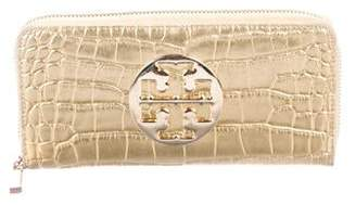 Tory Burch Embossed Leather Amanda Continental Wallet