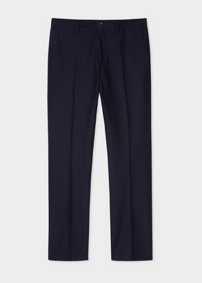Paul Smith Men's Mid-Fit Dark Navy Pleat Front Chinos