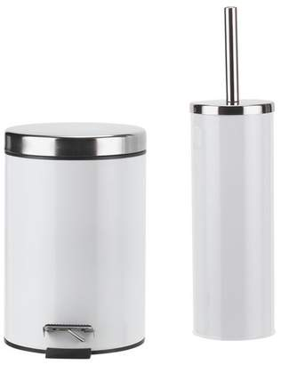 ColourMatch Slow Close Bin & Toilet Brush Set - Super White