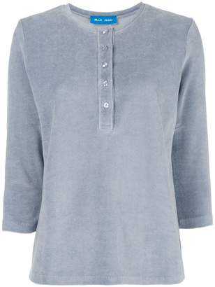 MiH Jeans velour henley T-shirt