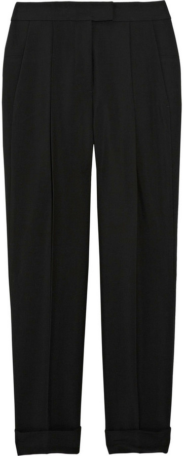 Alexander Wang Cropped crepe pants