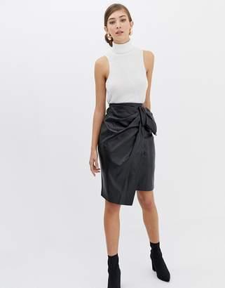 Closet London Closet Bow detail Asymetric Skirt