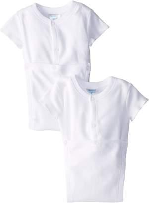 SpaSilk Unisex-baby 100% Cotton Short Sleeve Wrap 2-Pack Bodysuit