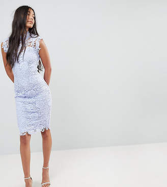 Paper Dolls Tall High Neck Lace Midi Dress