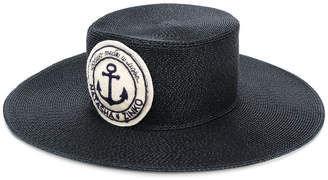 wide brim logo patch hat
