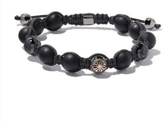 Shamballa Jewels 18kt rose gold, diamond & onyx beaded Braided bracelet