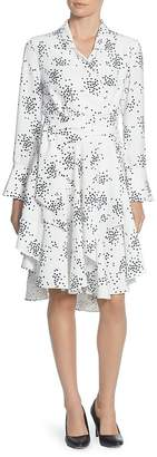 Catherine Malandrino Rene Dot Asymmetric Wrap Dress