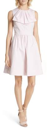 Ted Baker Bow Front Cotton Fit & Flare Dress