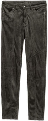 H&M Faux Suede Pants - Gray