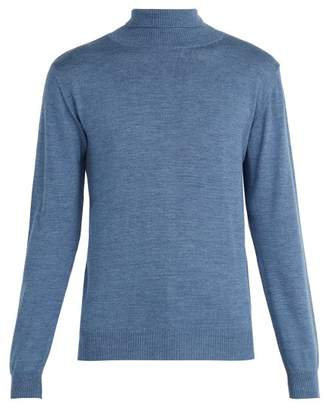 Oliver Spencer - Merino Wool Roll Neck Sweater - Mens - Blue