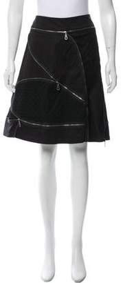 Cynthia Steffe Cynthia Zipper Accented Knee-Length Skirt
