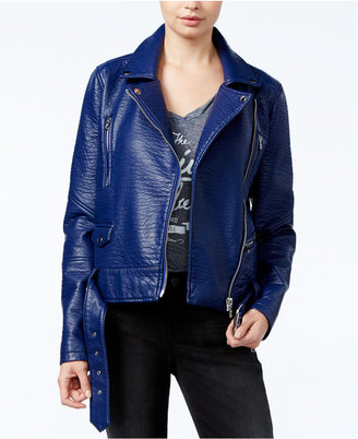 WILLIAM RAST Textured Faux-Leather Moto Jacket $139.50 thestylecure.com
