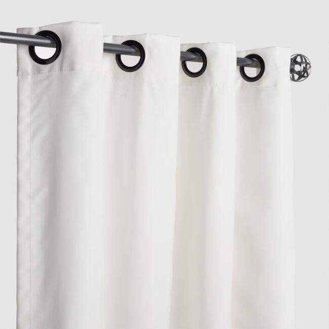 Sunbrella Natural Canvas Grommet Top Outdoor Curtain
