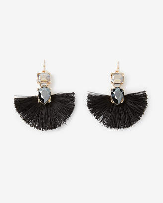 Express Mini Tassel Stone Drop Earrings