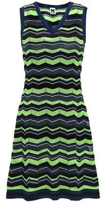 M Missoni Flared Intarsia-Knit Mini Dress