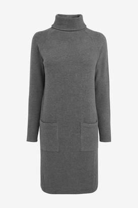 Great Plains Womens Grey Kitten Soft High Neck Dress - Grey