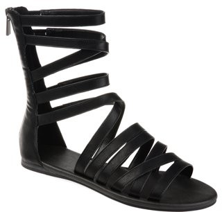 Brinley Co. Womens Back Zip Gladiator Sandal