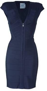 Herve Leger Blue Dress