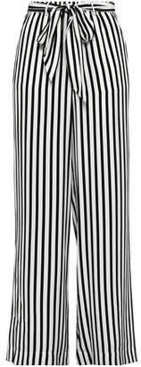 Frame Striped Silk-satin Crepe Wide-leg Pants