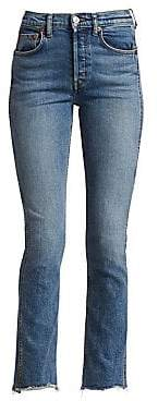 RE/DONE Women's Double Needle Long Comfort Stretch