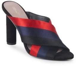 Diane von Furstenberg Emily Striped Crisscross Sandals