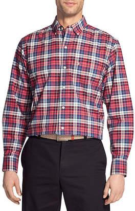 Izod Newport Oxford Long Sleeve Button Down Shirt