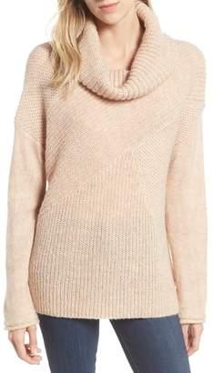 Caslon Mix Stitch Funnel Neck Wool Blend Sweater
