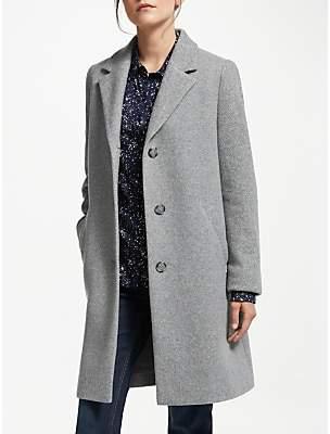 Tweed Wool Blend Coat, Grey