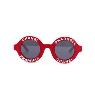 932e2afde1c Pharrell Chanel X Williams Red Plastic Sunglasses