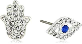 lonna & lilly Silver-Tone/ Mismatch Stud Earrings