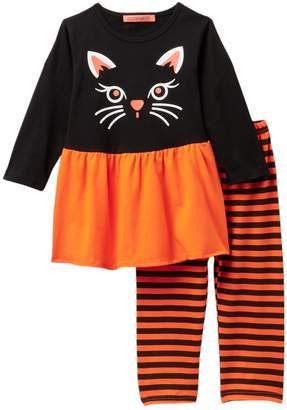 Funkyberry Kitty Leggings Set (Baby Girls)
