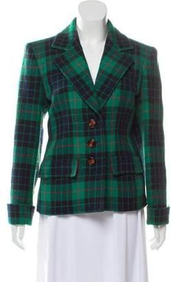 Saint Laurent Vintage Plaid Blazer