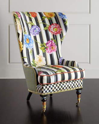 Mackenzie Childs MacKenzie-Childs Cutting Garden High-Back Wing Chair