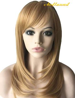 styling/ Auflaund Shoulder Length Bob Straight Wig - AmorWig Natural Middle Length Blonde Hair Wigs for Women + Wig Cap