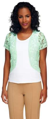 Liz Claiborne New York Open Front Lace Shrug