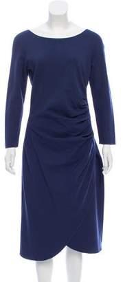 Armani Collezioni Ruched Midi Dress