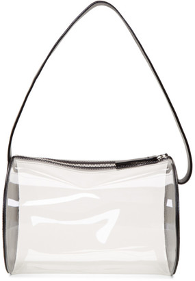 Building Block SSENSE Exclusive Black and Transparent PVC Barrel Bag
