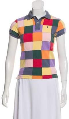 Ralph Lauren Patchwork Short Sleeve Polo