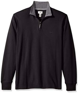 Dockers Men'sInterlock Quarter Zip Long Sleeve Sweater
