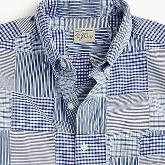 J.Crew Short-sleeve cotton poplin shirt in patchwork stripe