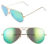 Ray-Ban 58mm Mirrored Aviator Sunglasses