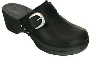 Crocs Leather Clogs - Cobbler Buckle $69 thestylecure.com
