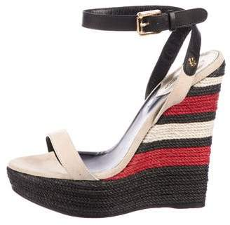 DSQUARED2 Suede Wedge Sandals