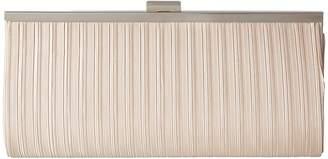 Jessica McClintock Laura Pleated Satin Framed Clutch Clutch Handbags